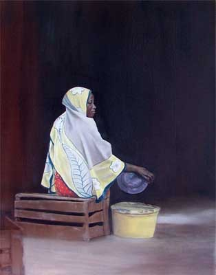 diani woman - oil on canvas - 2004-05 75 cm x 50cm
