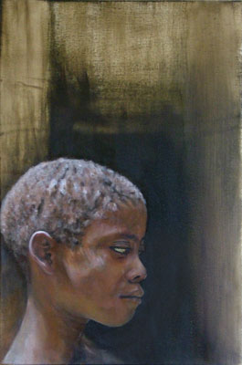 makongeni boy - oil on canvas 2004- 54 cm x 35cm